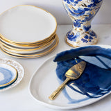Dessert Plates in White and Gold (set of two)