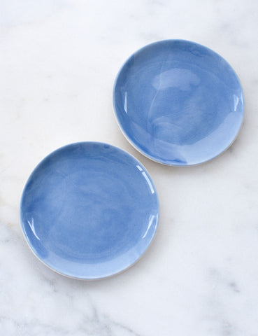 Pre-Order: Dessert Plates in French Blue (Set of Two)