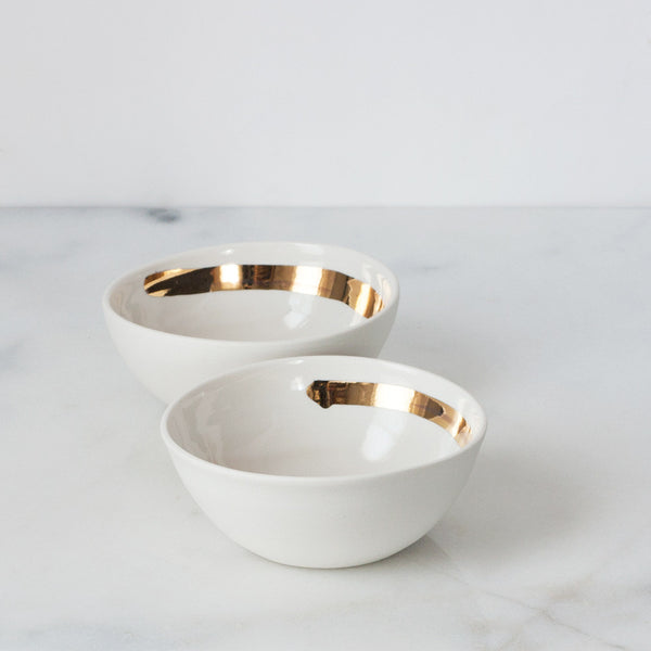 Gold Brushstroke Bowls (set of two)