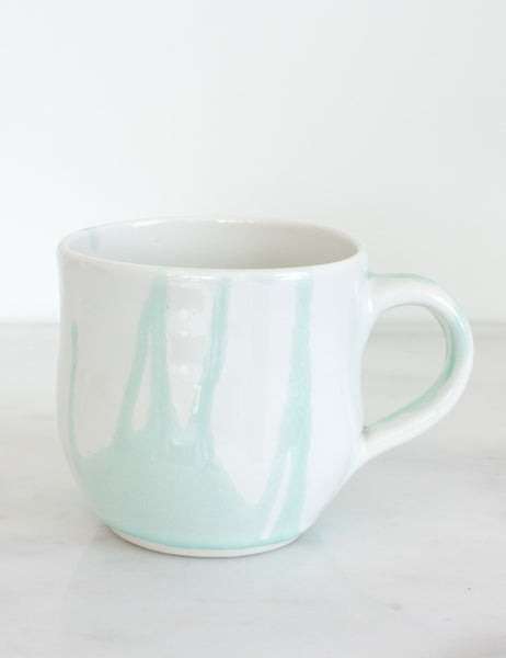 Thrown Mug in Mint Watercolor- Sample