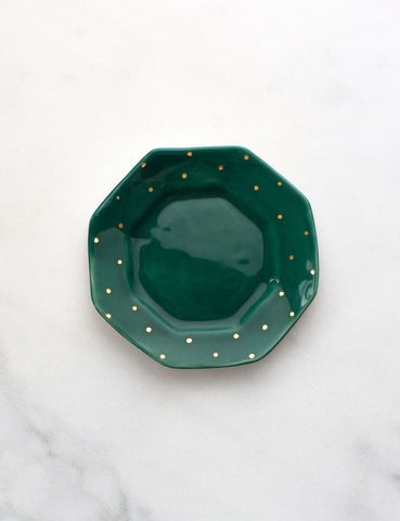 Octagon Jewelry Dish in Emerald