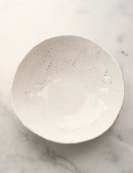 Hand-Built Porcelain Serving Bowl #3