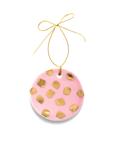 Confetti Ornament in Rose and 22k Gold