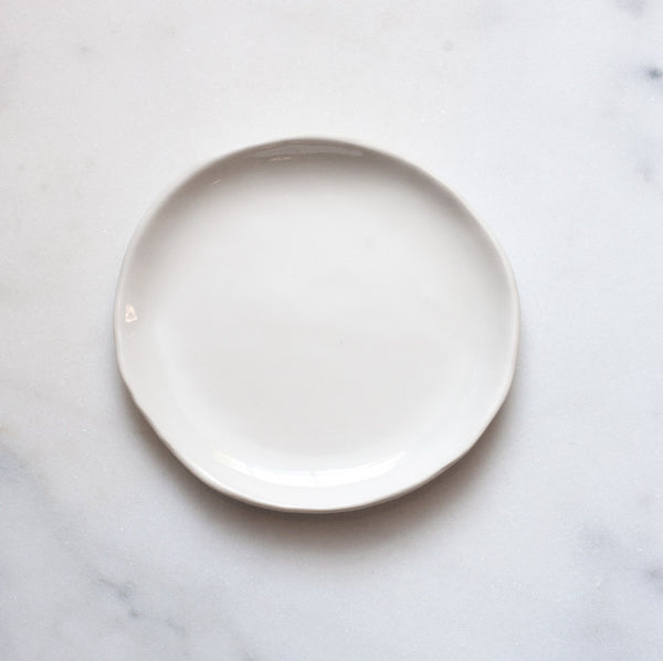 Seconds Dessert Plate in White (individual plate)