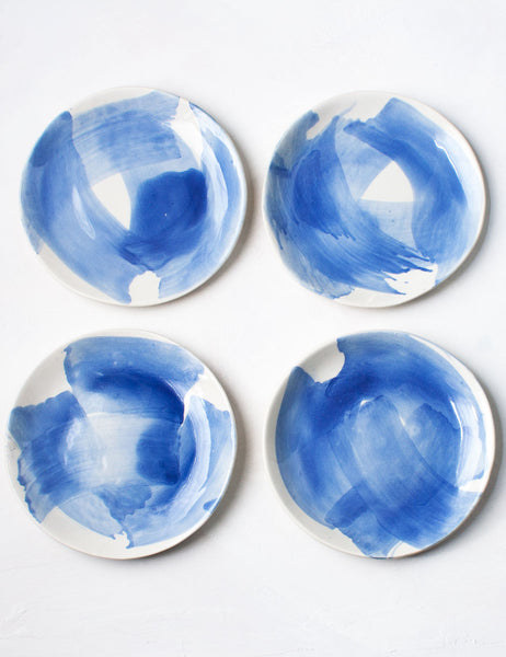 Seconds Dessert Plates in Chambray (Set of Four)
