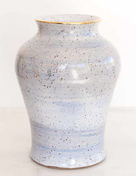 Stoneware Vase in Amalfi Blue and Gold #15