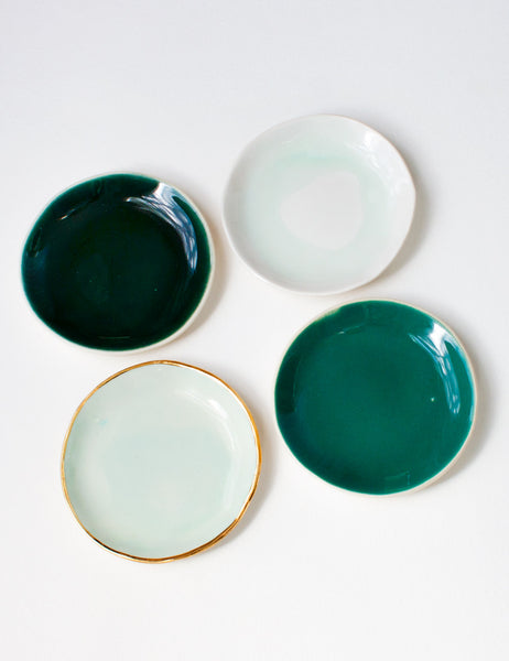 Ring Dish Styling Set: Greens (Set of Four)