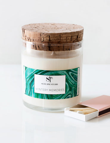Wintery Memories: Limited Edition Soy Candle with Candlefish