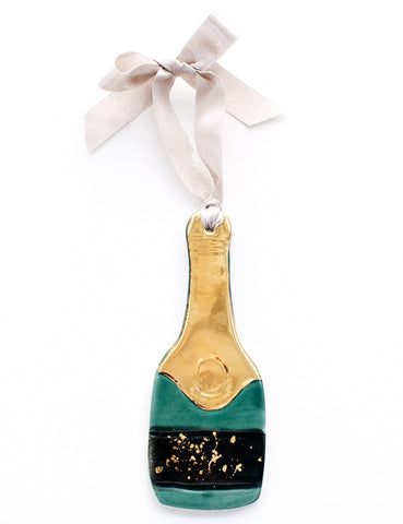 Bubbly Ornament in Champagne 22k Gold