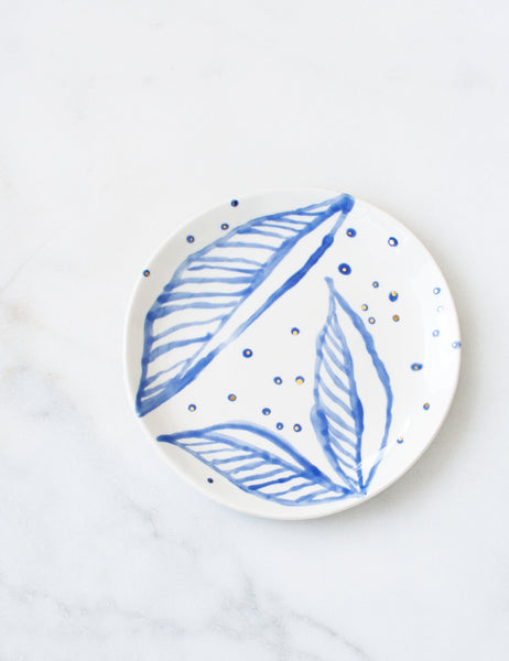 Sample Dessert Plate in Painted Foliage