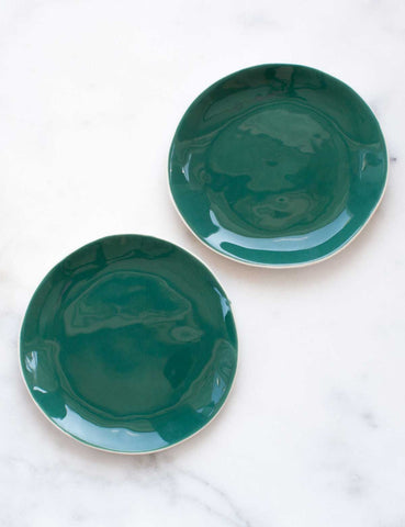 Dessert Plates in Agave (Set of Two)