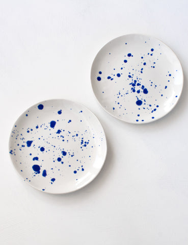Dessert Plates in Cobalt Splatter (set of two)  sc 1 th 256 & Suite One Studio Tableware: Making Mealtimes Beautiful