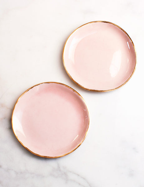 Made to Order: Dessert Plates in Rose and Gold (set of two)