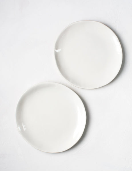 Seconds Dessert Plate in White (Set of Two)