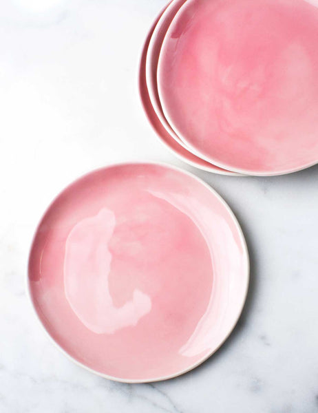 Dinner Plates in Bright Rose (Set of Four)