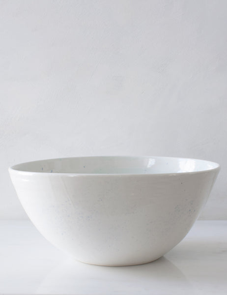 Mixing Serving Bowl in Pale Mint and Chambray on White