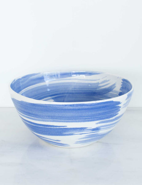Seconds Mixing Bowl in White and Clematis Brushstrokes