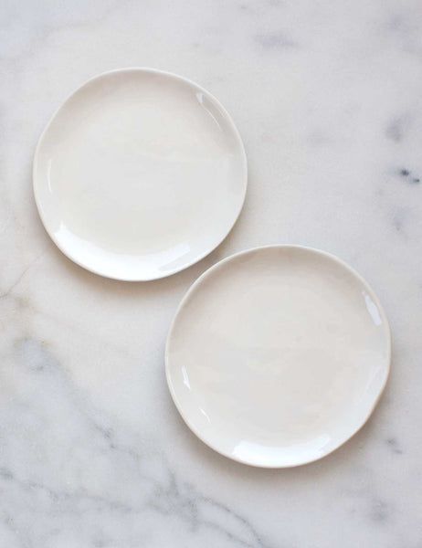 Dessert Plates in Modern White (set of two)