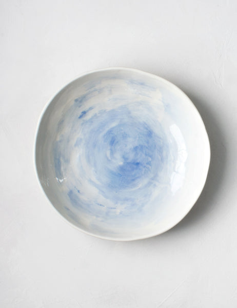 Salad Bowl in Chambray Brushstrokes