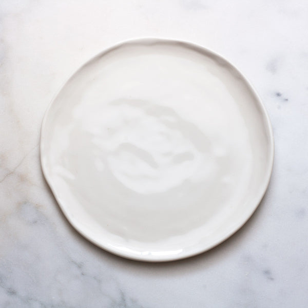 Seconds Slab Plate in White