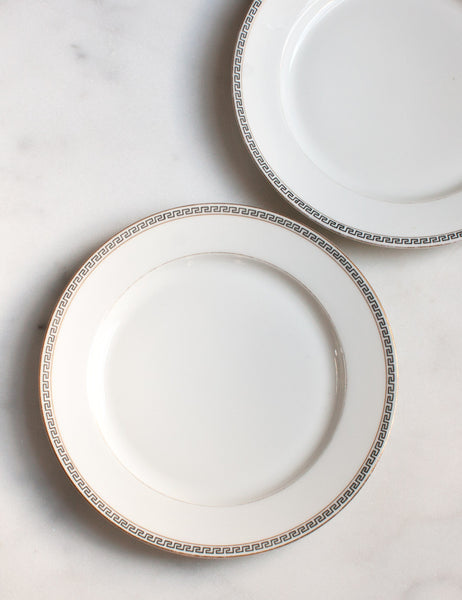Vintage Greek Key Dinner Plates (set of four)
