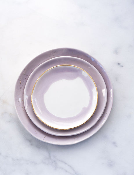 Limited Edition: Place Setting in Wisteria and Gold (Set of Three)