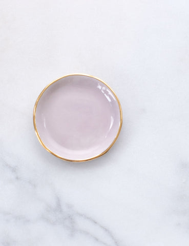 Limited Edition: Ring Dish in Wisteria with Gold Rim