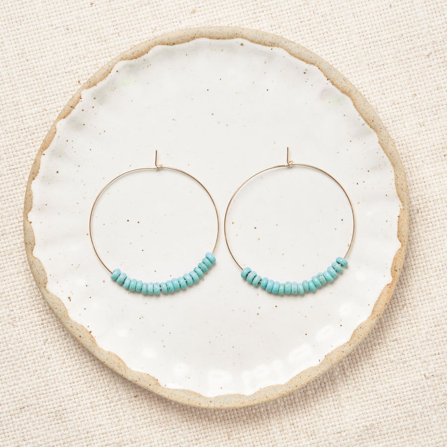 Rustic Hoops - 14k Gold Filled