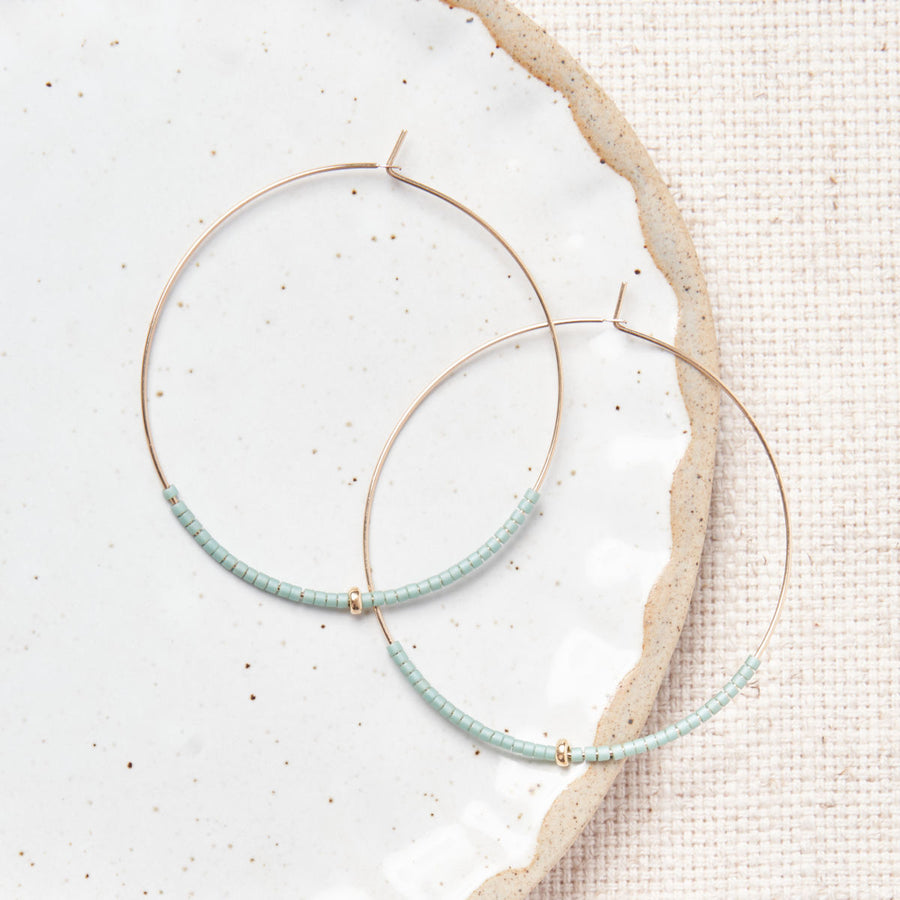 Seaside Hoops - 14k Gold Filled