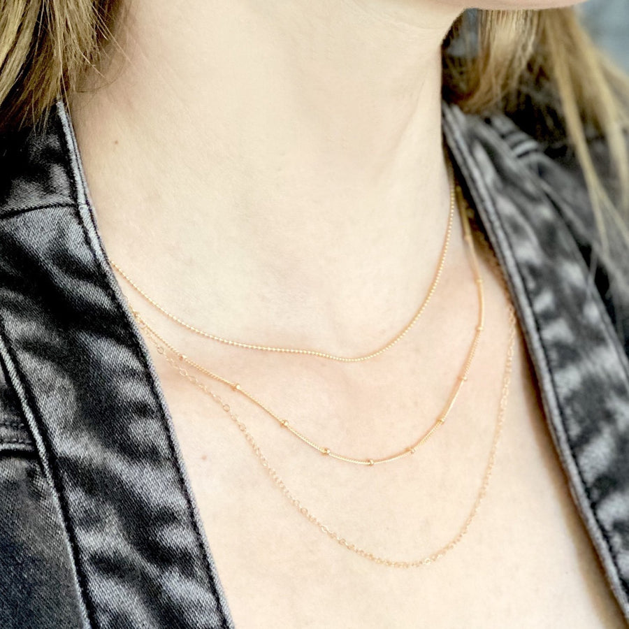 Cable Chain Necklace - 14k Gold Filled