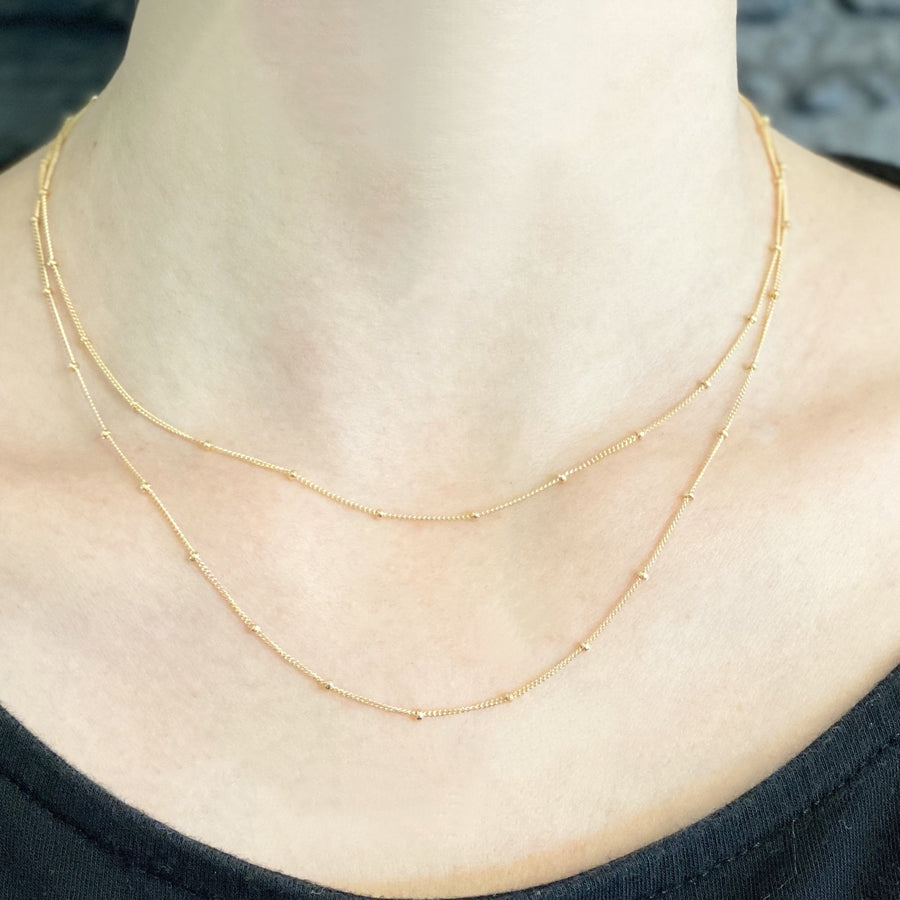 Satellite Chain Necklace - 14k Gold Filled