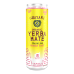 a bright yellow can of yerba mate tea