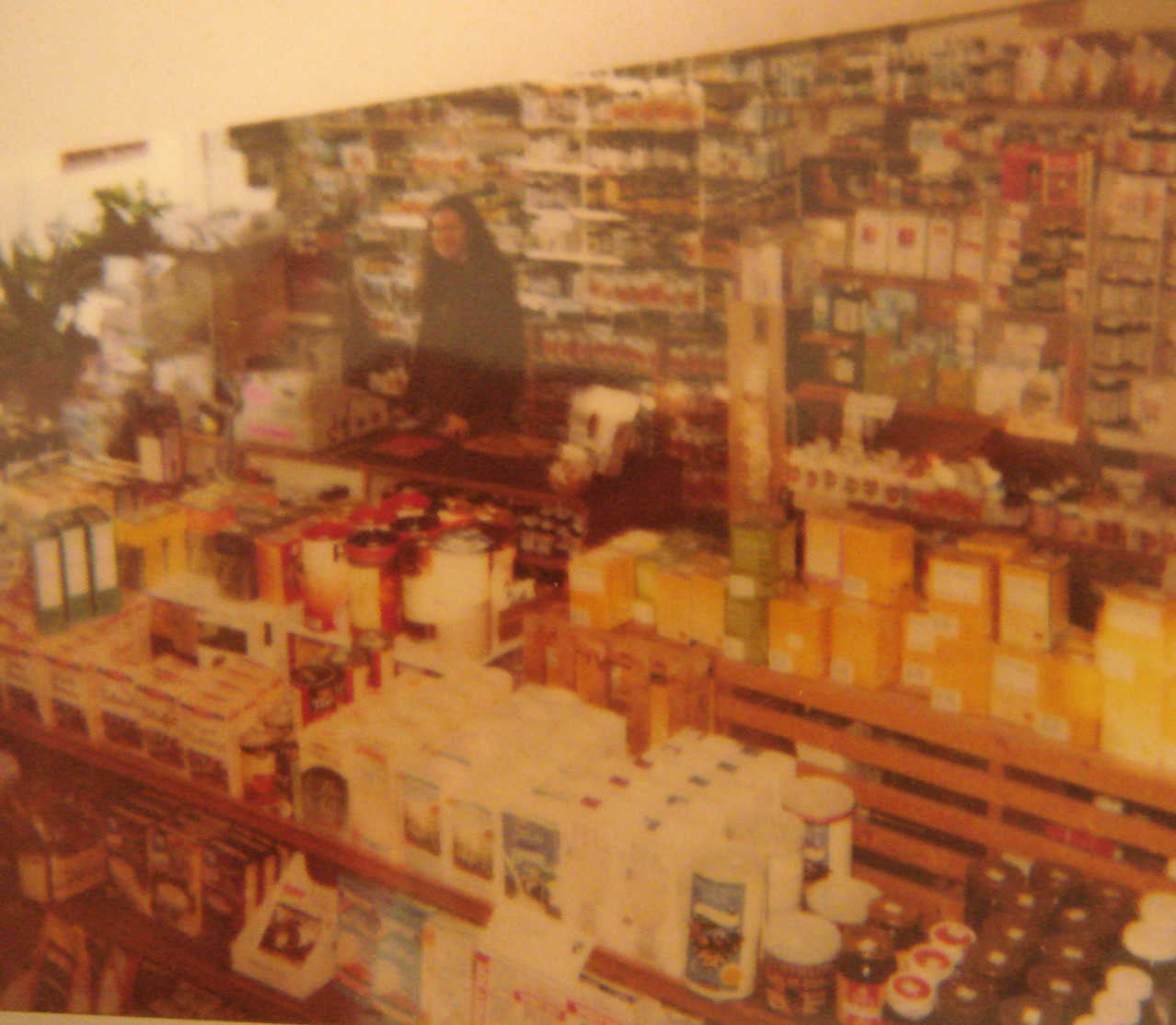 Vintage shop interior circa mid-90's, packed to the rafters
