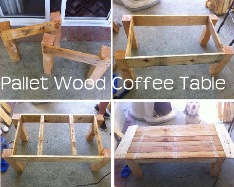 DIY Pallet Table and Planter – Fiber and Water