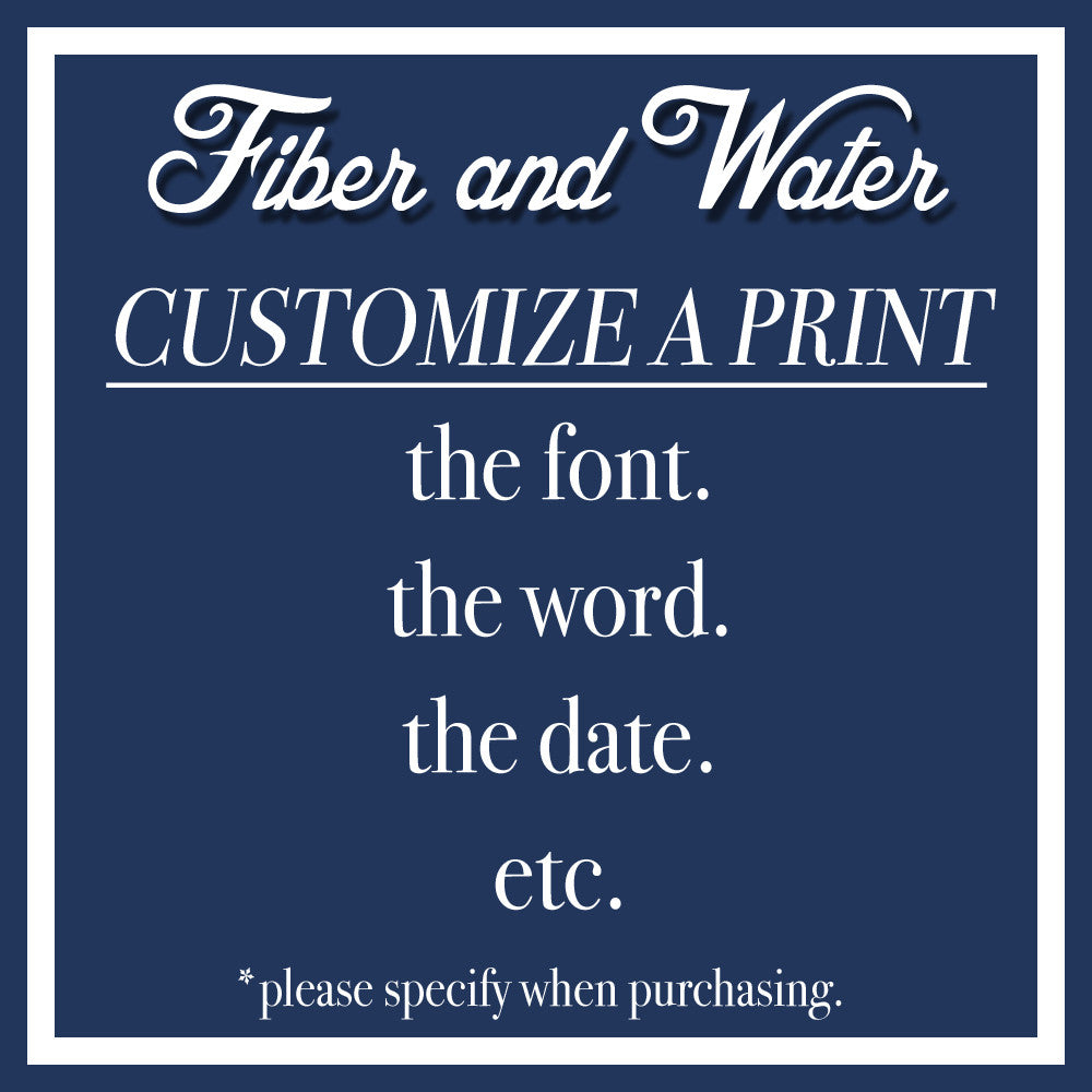 Customize a Print - Add this to your order.