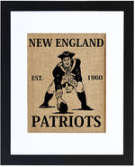 New England Patriots (natural burlap)