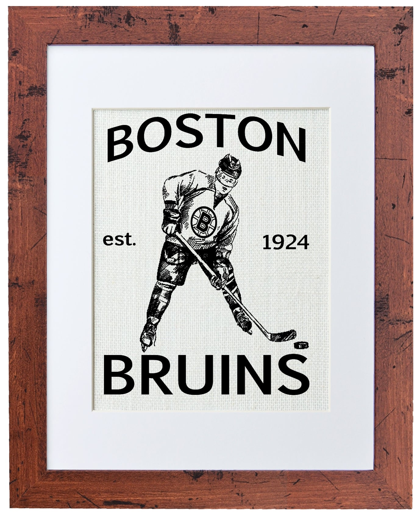 Boston Bruins (white burlap)