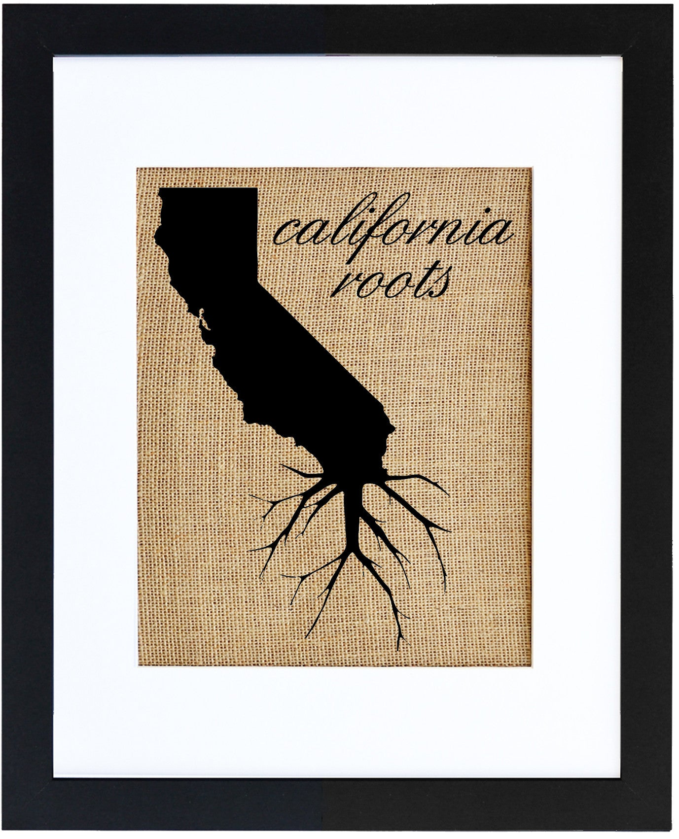 Cali Roots | Hand-Pressed Burlap Wall Art