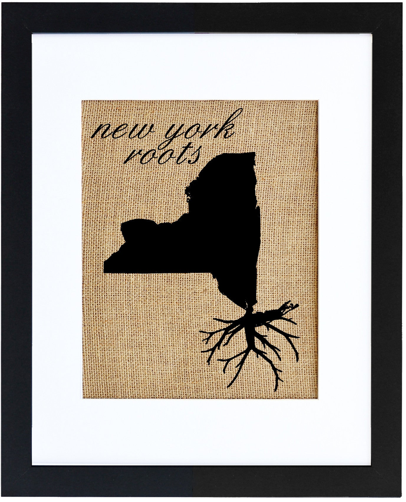 New York Roots | Hand-Pressed Burlap Wall Art