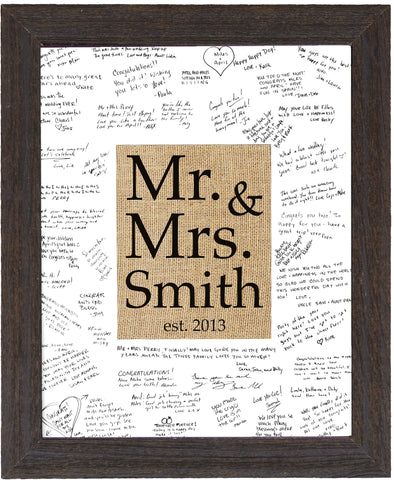 Guestbook Mr. & Mrs. Monogram