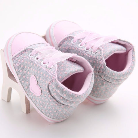 Newborn Girls Kids Polka Dots  Shoes