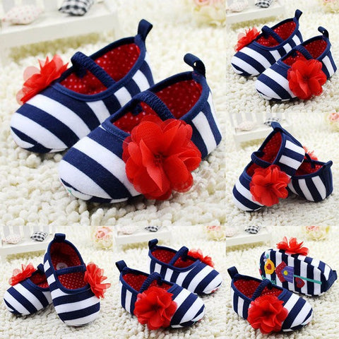 Newborn Girls Flower  Shoes