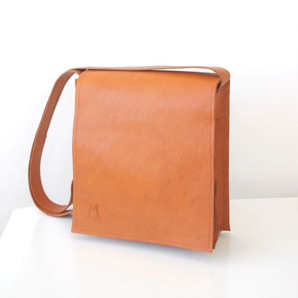 satchel by son of martin ochre brown