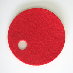 red Villa wool felt coaster