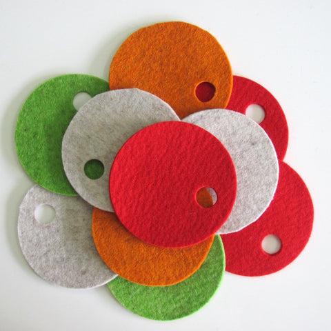 Villa wool felt coasters - set of 4