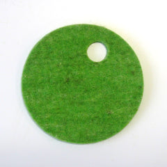 green melange wool felt coaster