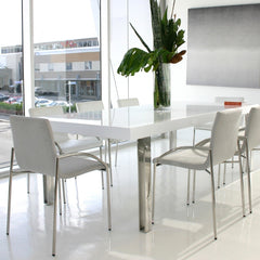 Jacqueline dining table with Alexander chairs