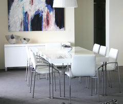 Jacqueline table with Alexander chairs and Markus buffet