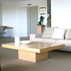 Natalie coffee table with plinth in background and Markus sofa
