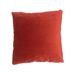 Velvet cushion - burnt orange